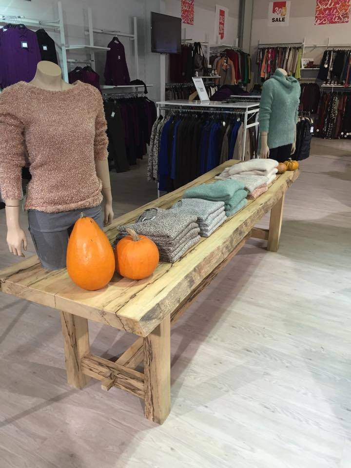 Displaytafel hout