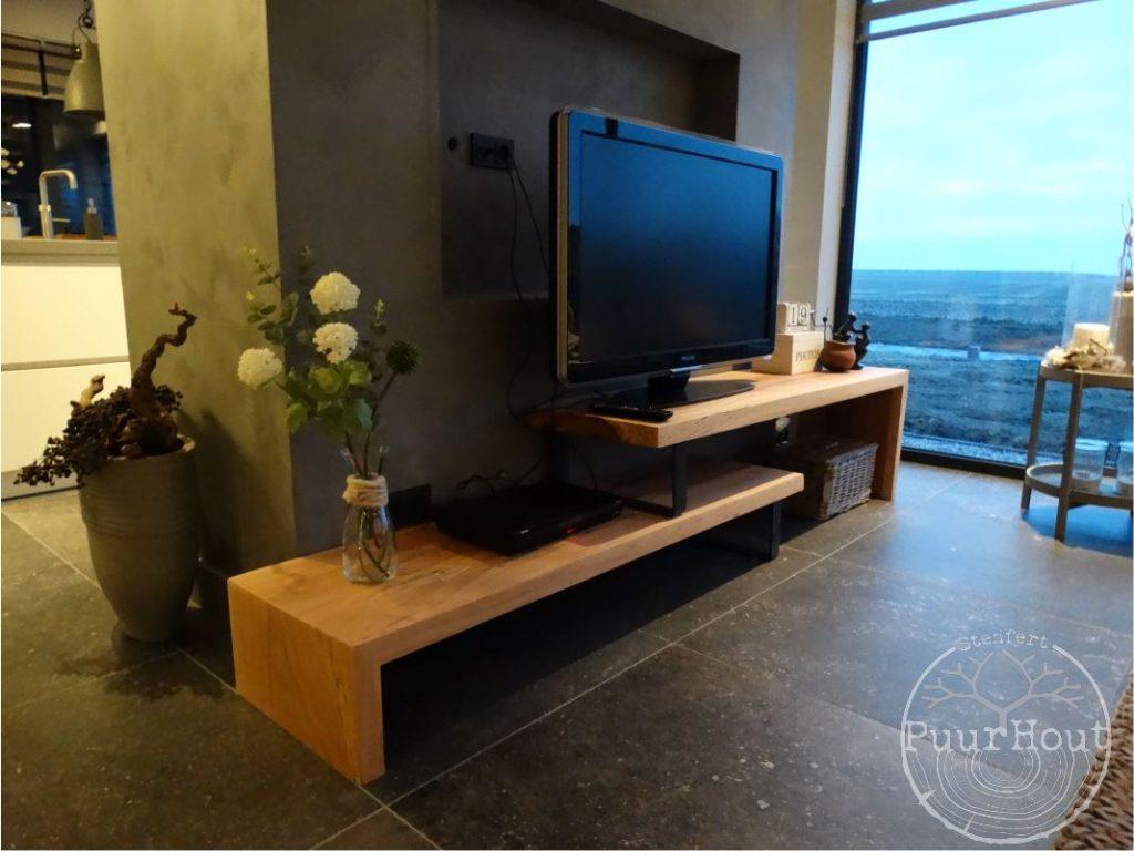 Tv-meubel Iroko twee delen